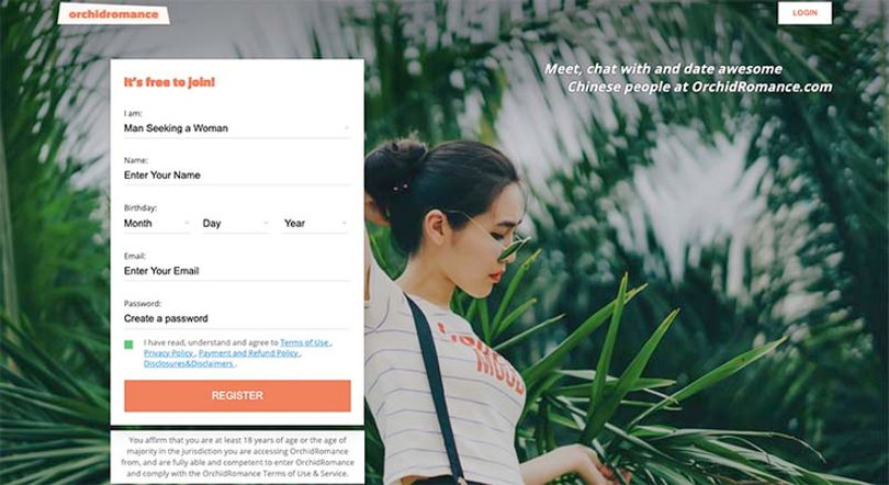 orchidromance-registration-screen