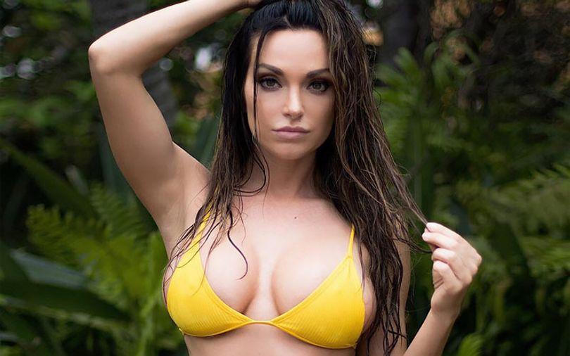 pretty-woman-in-yellow-bra